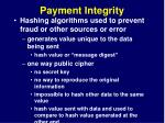 payment integrity