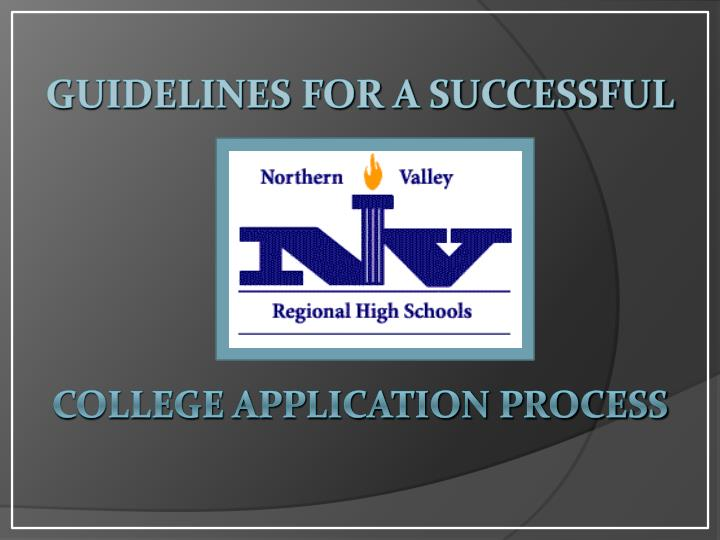 guidelines for a successful college application process n.