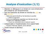 analyse d ex cution 1 2