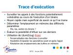 trace d ex cution
