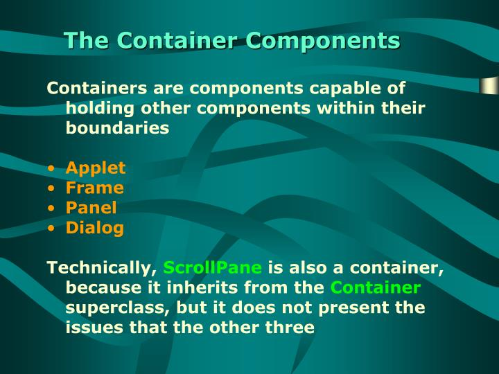 The Container Components