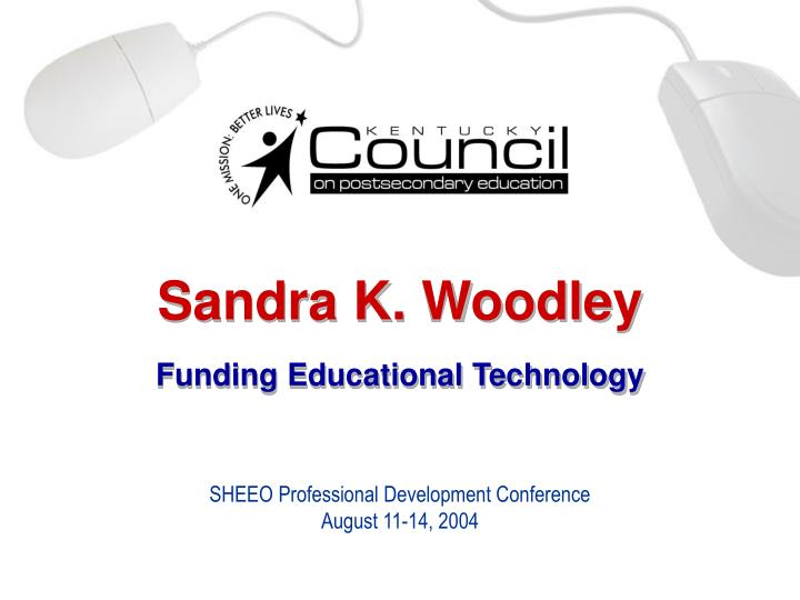 sandra k woodley funding educational technology n.