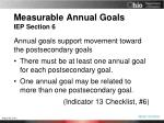 measurable annual goals iep section 61