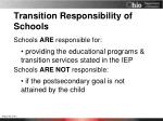 transition responsibility of schools1