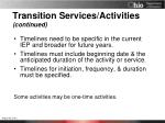 transition services activities continued1