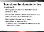 transition services activities continued2