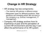 change in hr strategy