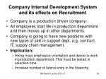 company internal development system and its effects on recruitment