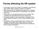 forces affecting the hr system