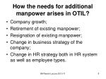 how the needs for additional manpower arises in otil