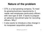 nature of the problem