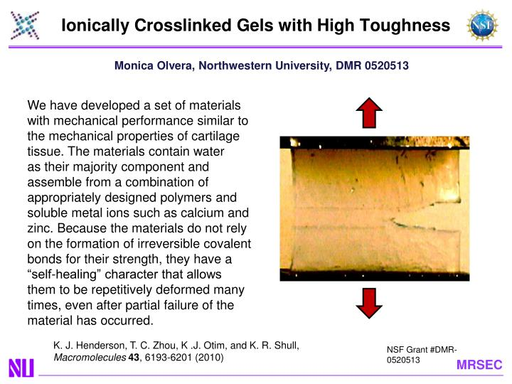 ionically crosslinked gels with high toughness n.