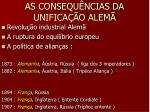 as consequ ncias da unifica o alem