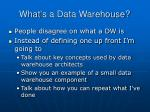 what s a data warehouse