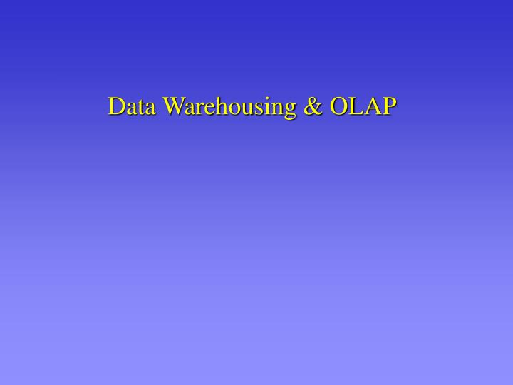 data warehousing olap n.