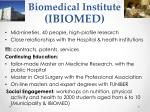 biomedical institute ibiomed