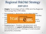regional r d i strategy 2007 2013
