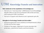 u3m knowledge transfer and innovation1