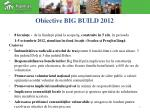 obiective big build 2012
