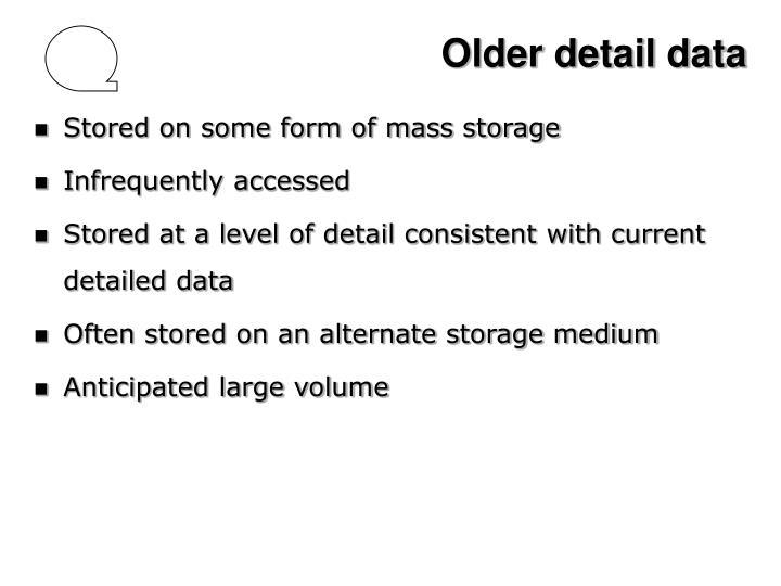 Older detail data