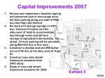 capital improvements 2007