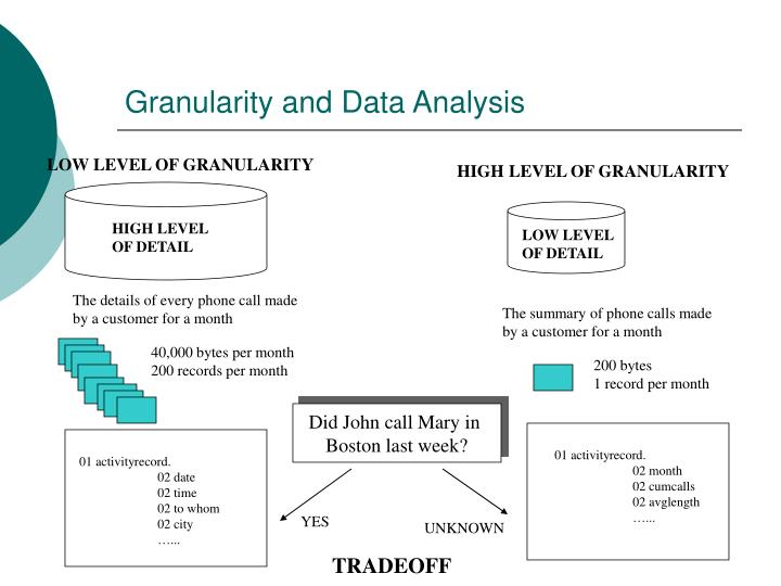 Granularity and Data Analysis