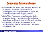 conceptos datawarehouse
