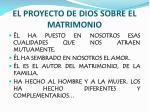 el proyecto de dios sobre el matrimonio