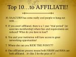 top 10 to affiliate