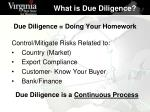 due diligence doing your homework