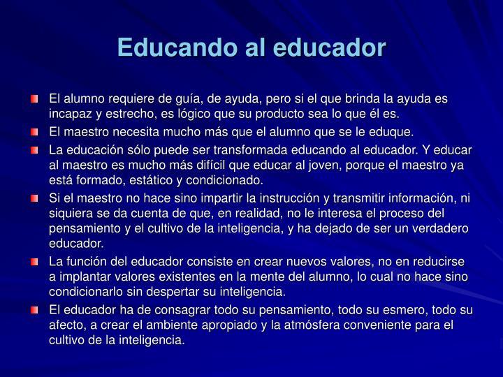 Educando al educador