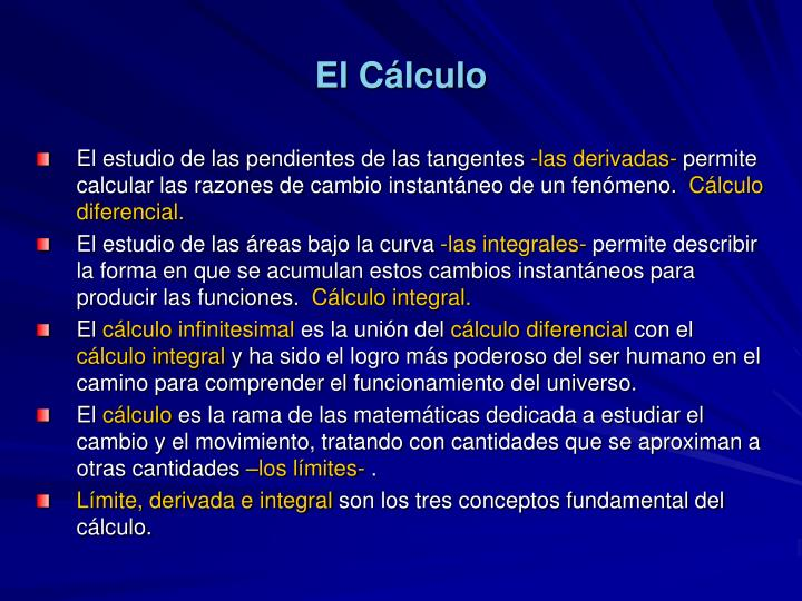 El Cálculo