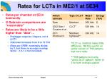 rates for lcts in me2 1 at 5e34