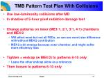 tmb pattern test plan with collisions