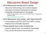mezzanine board design