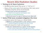 recent 2012 radiation studies
