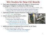 seu studies for new csc boards