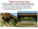 tmb front panel plan