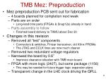 tmb mez preproduction