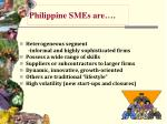 philippine smes are