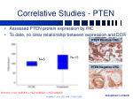 correlative studies pten
