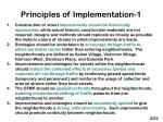 principles of implementation 1