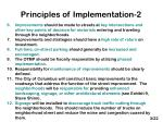 principles of implementation 2