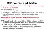 rtp protokola arhitekt ra1