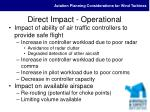 direct impact operational