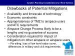 drawbacks of potential mitigations