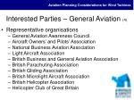 interested parties general aviation 4