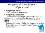 mitigation of direct effects operational