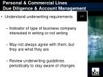 personal commercial lines due diligence account management1