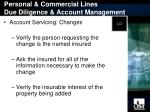 personal commercial lines due diligence account management13